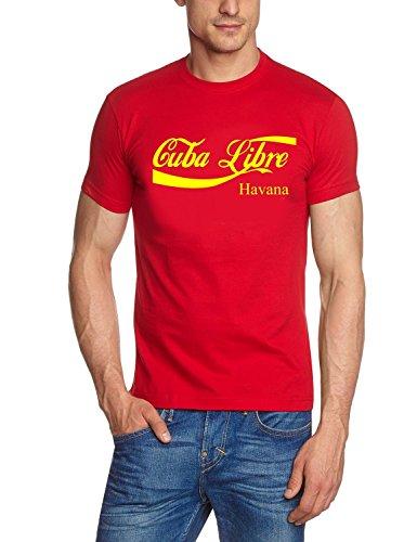 Coole-Fun-T-Shirts Herren HAVANA T-SHIRT - CUBA LIBRE - KUBA LOGO SHIRT ! TSHIRT, rot_gelb Preisvergleich