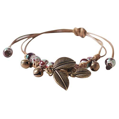 MSTOT Bracelet De Bijoux Vintage Feuille Four Réglable...