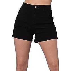 Banned - Pantalón Corto - Básico - para Mujer Negro S