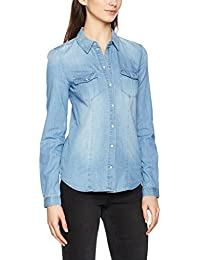 ONLY Damen Hemd Onlrock It Fit Lb Dnm Shirt Bj7885 Noos