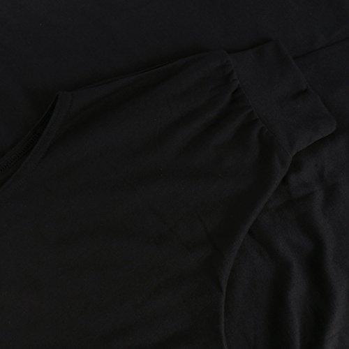 T-Shirt mit amerikanischer Armausschnitt Schwarz