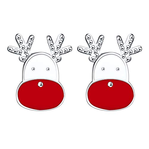 er Ohrstecker Silber Ohrringe Damen Mädchen,Nettes kleines Weihnachts Geschenk mit Schmuckschatulle,Nickelfrei ()