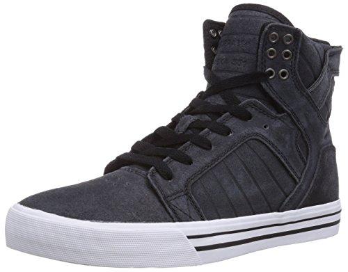 Supra SKYTOP, Herren Hohe Sneakers, Schwarz (BLACK/WHITE-WHITE BKW), 44.5 EU (9.5 Herren UK) (Sneakers Supra Skytop)