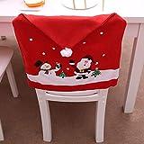 Producto navideño, JiaMeng Mesa de Cocina de Papá Noel Cubiertas de sillas de Navidad Decoración del hogar de Vacaciones