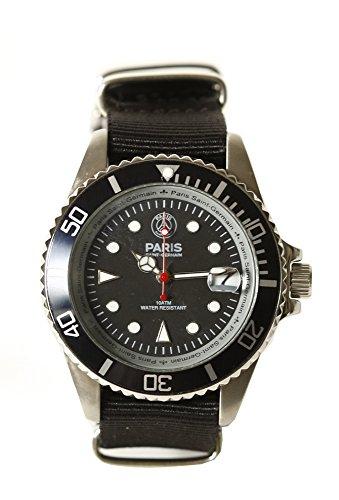 Paris Saint-Germain R-0120045 P6954 - Reloj para hombres, correa de nailon color negro