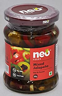 Neo Foods Mixed Jalapeno, 210 Grams - Pack of 12