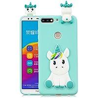 Everainy Huawei Honor 7C/Y7 2018/Y7 Prime 2018 Silikon Hülle 3D Einhorn Muster Ultradünn Hüllen Handyhülle Gummi... preisvergleich bei billige-tabletten.eu