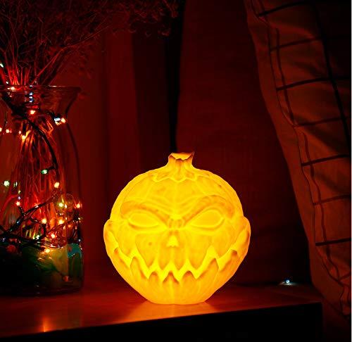 Led 3D Druck Teufel Kürbis Gesicht Licht Patting Nacht Lampe 3 Farben Led Bunte Nachtlichter Für Halloween Party Dekoration