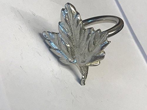 Big Maple Leaf tg237Emblem aus feinem englischen Zinn auf ein Schal Ring geschrieben von uns Geschenke für alle 2016von Derbyshire UK... -