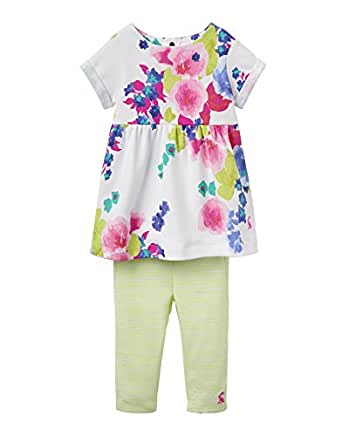Joules Baby Girls Dress And Leggings Set Ocean Bloom