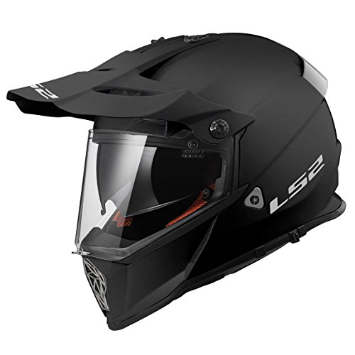 LS2 Casco Moto Mx436 Pioneer, Matt Black, M