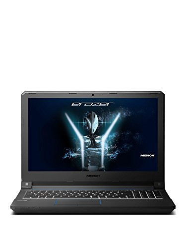 Medion Erazer X6603 15 6-Inch Full HD Display Gaming Laptop -  Black   Intel Core i7-7700HQ  8 GB RAM  256GB HDD  1 TB HDD  NVIDIA GeForce GTX 1050 Ti