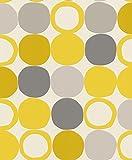 Rasch Vlies Tapete - Größe: 0,53 x 10,05 m - Farbe: gelb - Stil: Muster & Motive (modern)