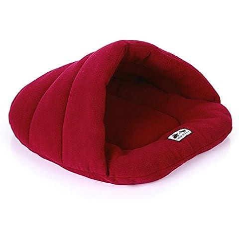 jysport caldo Pet Sacco a pelo sacco a pelo Pouch Pets letti Pet Sacco nanna coperta tappetino cucciolo gattino/48* 58, red wine, 48*58cm