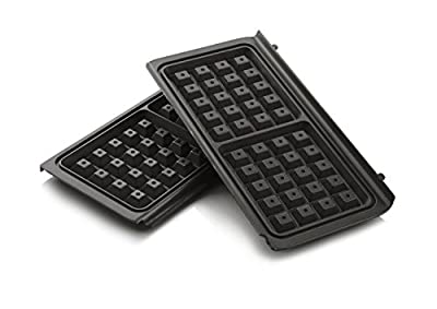 Breville VST079 Waffle Maker Plates (VST041) & High Gloss Deep Fill (VST074) Sandwich Toasters, Grey