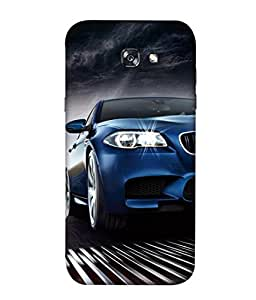 PrintVisa Designer Back Case Cover for Samsung Galaxy A7 2017 (Tyres Luxury Sedan Racing Sporty Landscape Picture)