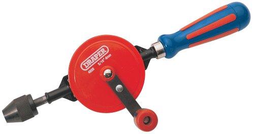 Draper 13838 8 mm 3/8-Inch Chuck Double-Pinion Hand Drill