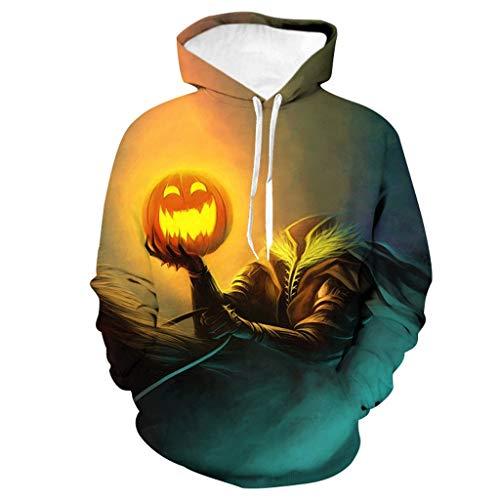 Zilosconcy Halloween Kostüm Unisex Sweatshirts Herren Damen Halloween Aufdruck Hoody 3D Druck Hoodie Mens Casual Scary Halloween 3D Gedruckt Langarm Sweatshirt Hoodie Top - Oriental Dress Up Kostüm