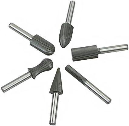 Vzer rossoary Burr set HSS HSS HSS rossoary file per legno, metallo, plastica macinazione 6pcs 6 mm 1 10,2 cm metallo morbido | Prestazioni Affidabili  | Area di specifica completa  | comfort  06e03b