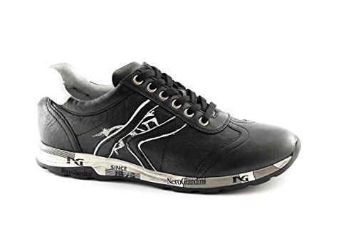 BLACK JARDINS 16190 noir chaussures de sport blanches de lacets baskets casual Nero