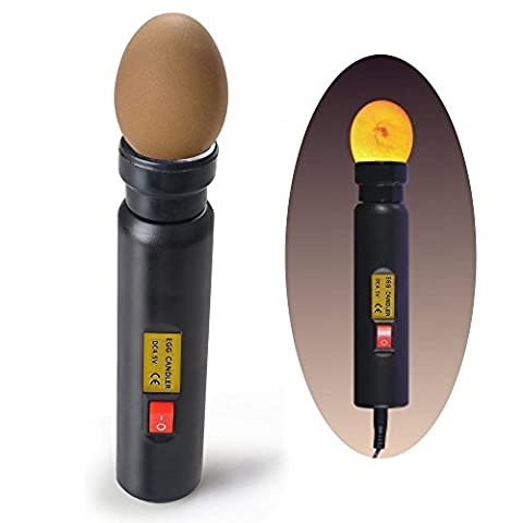 ZJchao Led Egg Tester / High Intensity LED Egg Candler For Monitoring Egg Incubator Brooder Hatching