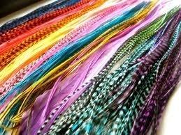 Sexy paillettes plumes pour extensions de cheveux (60) 17,8 cm -10 \