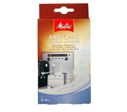 Entkalker für Kaffeeautomaten oder Pad-Maschinen - Pulver 2 x 40 g
