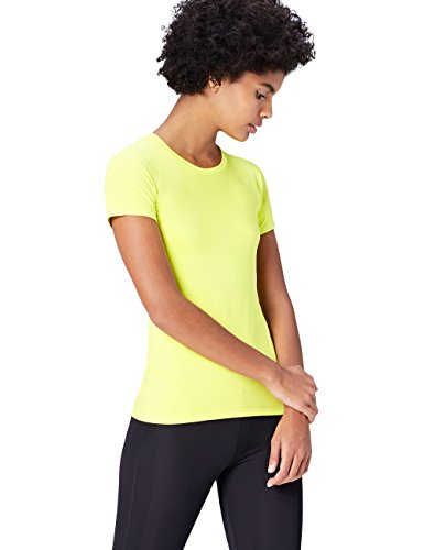 FIND Women's Sports Top, Green (Citrine), 10 (Manufacturer Size: Small)