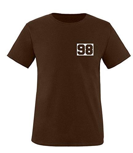 Luckja Wunschnummer T-Shirts für Damen und Herren Herren/Braun/Weiss