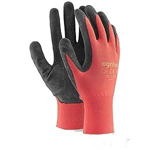 24 pares de guantes de trabajo con revestimiento de látex de seguridad duraderos para jardinería (L-9)