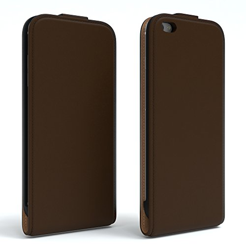 Apple iPhone 6 / 6S, EAZY CASE Premium Flip Case Handyhülle Schutzhülle als Klapphülle, Wallet Cover, Etui, Smartphone Tasche in Hellgrau Braun