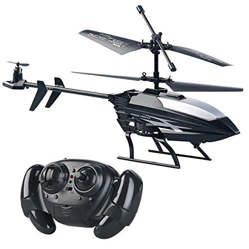 Simulus Mini Helikopter: Ferngesteuerter 3,5-Kanal-Mini-Hubschrauber mit 3 Rotoren und Gyroskop (Heli)