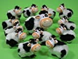 KUH - FAMILIE RIESIG MIT 13 Tieren mit Fell DEKO Kuhherde Dekoration Keramik