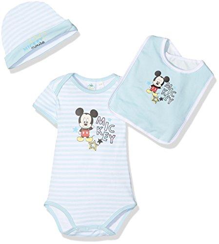 Disney Baby Micky Maus Geschenk Set Body Mütze Lätzchen 0 bis 3 Monate