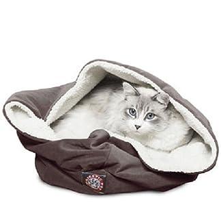 Majestic Pet 17 inch Rust Suede Burrow Cat Bed 8