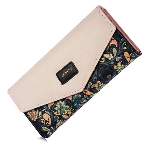 femme-portefeuille-trois-pliee-floral-cuir-simili