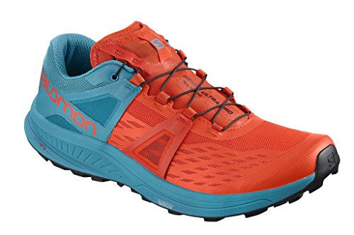 Salomon Zapatos Running Hombre Ultra Pro cherrry to Naranja/Azul Ah 2018, Cherry Tomato/Fjord Blue/Black, 44 2/3
