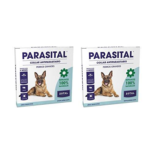 Parasital Collar Antiparasitario de 75 cm para Perros Grandes de Zotal, Pack...
