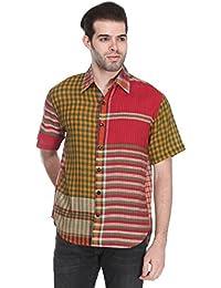 Reevolution Men's Cotton PatchworkShirt (MAGS310326)