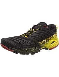 e2ce335f5145 La Sportiva Akasha Trail Running, Scarpe Uomo, Multicolore  (Nero/Giallo/Rosso