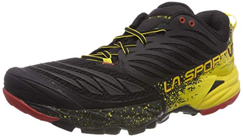 La Sportiva Akasha Trail Running Calzado para Hombre, Multicolor (Red/Black/Yellow), 42.5 EU