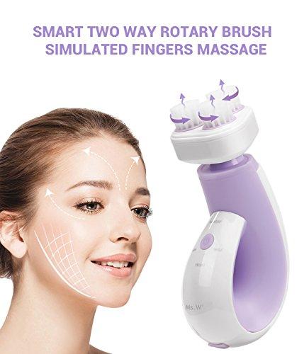 Ms.W Detergente per la pelle della spazzola per il viso impermeabile Spazzole per il lavaggio del viso sonico silicone Pulizia profonda ed esfoliante