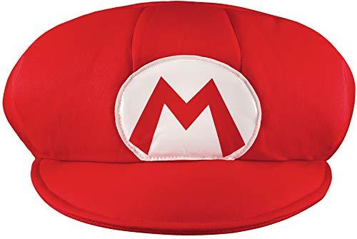 (Super Mario 13376–Mütze Mario, Rot, Einheitsgröße)