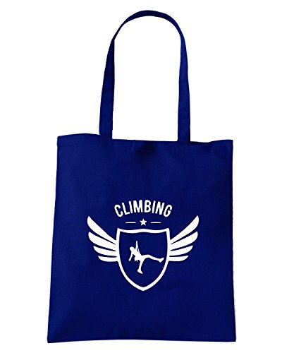 T-Shirtshock - Borsa Shopping SP0054 Climbing Winged Maglietta Blu Navy