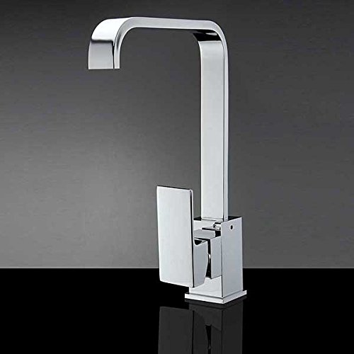 chrome-solid-brass-kitchen-sink-mixer-tap-square-bath-faucet