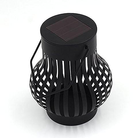 LanLan Oval LED Solar Camping Light Tent Light Household Hand Lamp Decorative Lamp Black