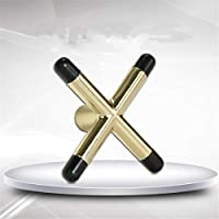 Romison Práctico Soporte de Cabeza de Puente Antideslizante para Billar de Billar con diseño de Tacos de Billar, Copper Color Cross, as Shown