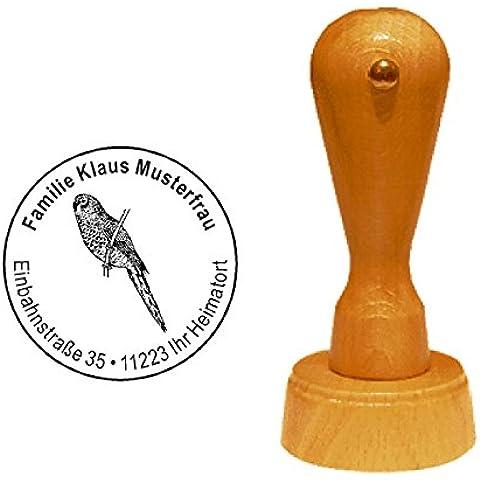 Timbro timbro Parrocchetto Parrocchetto « Bourke » con indirizzo personale–Uccelli