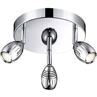 Plafonnier LED 15 Watts luminaire spots mobiles éclairage lampe Globo Morelia 56203-3