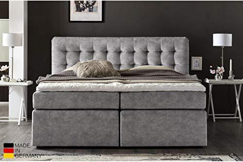 Furniture for Friends Möbelfreude® Premium Boxspringbett Perris   180x200 cm Hellgrau H2/H3   mit hochwertigen Tonnen-Taschenfederkern Matratzen & Viskose-Topper   Made IN Germany
